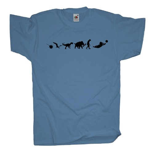 Ma2ca - 500 Mio Years - Beachvolleyball Volleyball T-Shirt Skyblue