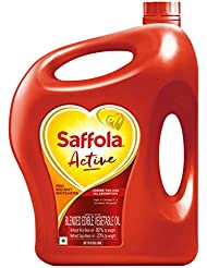 Saffola Active, Pro Weight Watchers Edible Oil, Jar, 5 L