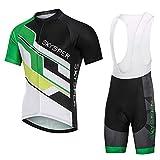 SKYSPER Radtrikot Herren Fahrradtrikot Kurzarm Fahrradbekleidung Set Outdoor Sport Radfahren Fahrradhose und Shirt