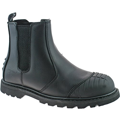 Grafters Nero Defender sicurezza Scuff Toe Dealer Stivali M823 taglia UK 3 – 12 Black Leather