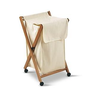 Arredamenti Italia AR_IT- 605 BANNY folding laundry basket with wheels finishing cherry.