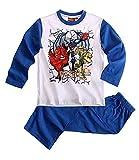 Gormiti Jungen 2-Teiler Schlafanzug Pyjama Lang 3 Typen Nr. LAWS57846, Farbe:blau/weiß;Größe:110