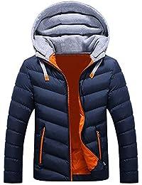 Cinnamou Abrigo Hombre Desmontable Capucha Blusa Tops de Hombres Invierno Chaqueta Ligero Abrigo Prendas Calentar de los Adolescentes