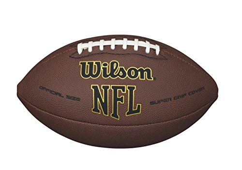 Wilson NFL Super Grip Fußball, braun, Official