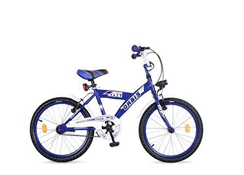 20 ZOLL BMX KINDER FAHRRAD RAD KINDERFAHRRAD JUGENDFAHRRAD Kinderrad Blau CRAZY