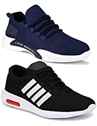 Shoefly Men Multicolour Latest Collection Sports Running Shoes - Pack of 2 (Combo-(2)-9069-9063)