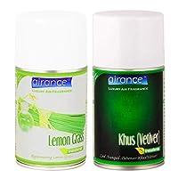 Airance Room Freshner Spray Aroma Perfume Refill Lemon Grass & Khus(Vetiver) - 250 ML - Pack of Two - Fit All Machines Using 250 ML / 300 ML Bottles