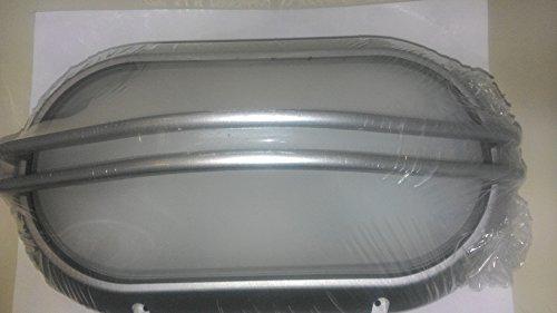 PRISMA 1711 SUPERDELTA OVALE C/GRIGLIA PL.60W E27 GRIGIO