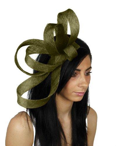 Hats By Cressida Damen Stirnband Grün Olive Green - Couture Olive