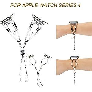 BZLine Armband Edelstahl Ersatz Uhrenarmband | Für Apple Watch Series 4 40mm/44mm | Einzigartiges Elegantes Design | Stilvolles zartes und ehrenhaftes Schauen