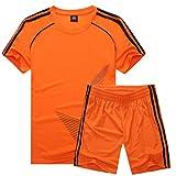 Inlefen Fußballuniform Passen Kind Kurz ÄrmelTrikot und Shorts Jungs Mädchen Trainingsanzug