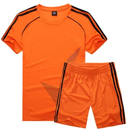 Inlefen Fußballuniform Passen Kind Kurz ÄrmelTrikot und Shorts Jungs Mädchen Trainingsanzug (Fußball Kostüm Für Kleine Mädchen)