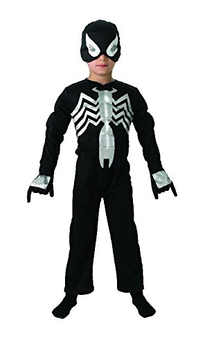 Ultimate Spiderman Kinder Kostüm Black Spiderman Overall Maske Gr.L
