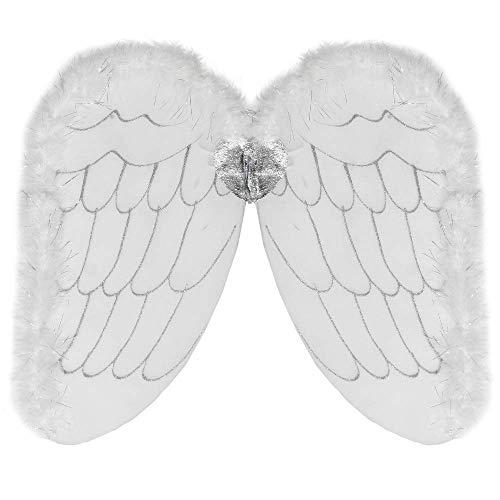 Angel Erwachsene Heaven's Für Kostüm - German Trendseller® Engels Flügel - Amor - Weiß - Deluxe ┃ Engel ┃ Fasching - Karneval - Party ┃ Angel Wings - Premium