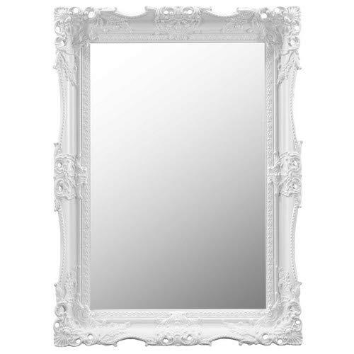 Frames by Post 124,5/x 40,6/cm Grande Taille 122/cm x 41/cm Blanc Ancien Motif Ornate Robe Miroir Mural