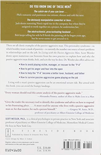 Living with the Passive-Aggressive Man: Coping with Personality Syndrome of Hidden Aggression: from the Bedroom to the Boardroom