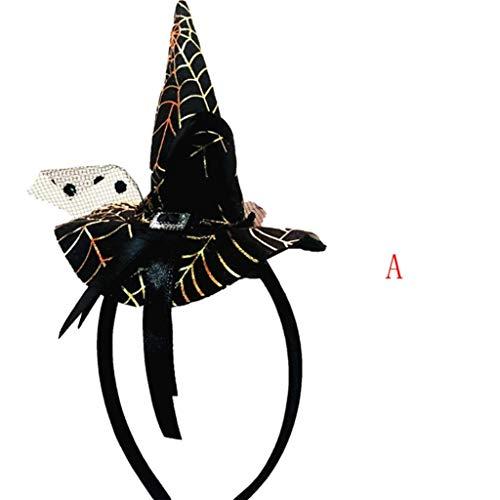 LCLrute Halloween Stirnbänder Zubehör Party Hexe Cap Hut -