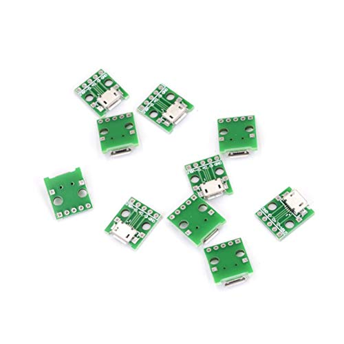 Char-rock (Printer Socket - 2.54mm Micro Usb To Dip Adapter 5pin Female Connector B Type Pcb Converter Pinboard Adaptor 10pcs - Rock Arduino Micor Board Male Adapter Magnetic Audio Type-c Socket Char)