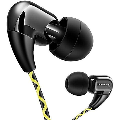 Cosonic W5 3.5mm In-Ear Sport Earphones Running Heardphone con Mic