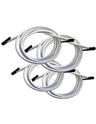 Lafuma Lacets élastiques avec embouts pour RSX/RSXA,Kit de 4 lacets, Couleur: Blanc, LFM2322-0020