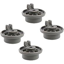 First4Spares Premium–Rueda para cesta inferior de clips para Bosch, Neff y Siemens lavavajillas–Pack de 4