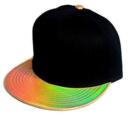 Premium gold snapback Casquette à visière plate Noir ethos-Casquette baseball homme femme hip hop hiphop rap rappeur