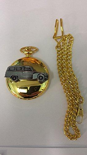 Volvo 210Duet Kombi ref285Zinn Effekt Emblem auf eine poliert Gold Fall Herren Geschenk Quarz Taschenuhr hergestellt in Sheffield