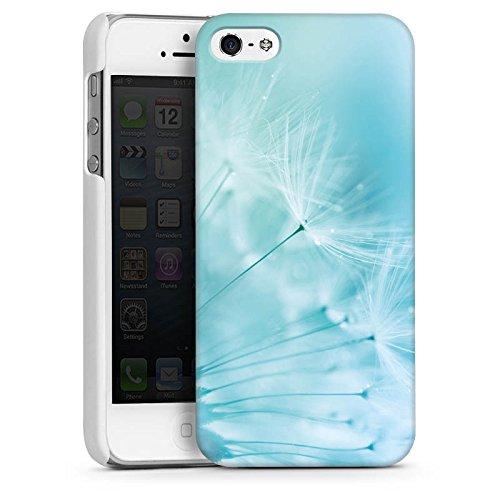 Apple iPhone 4 Housse Étui Silicone Coque Protection Pissenlit Bleu Bleu CasDur blanc