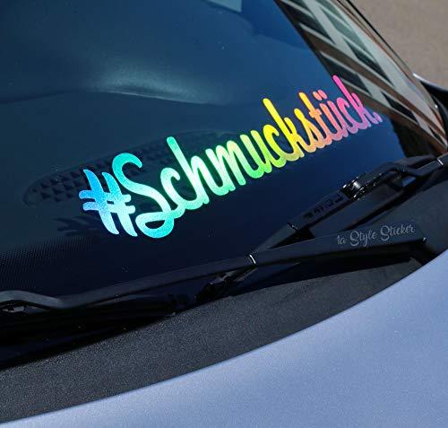 1A Style Sticker #schmuckstück Aufkleber i Love My Auto Frontscheibenaufkleber für Autotreffen Autoaufkleber