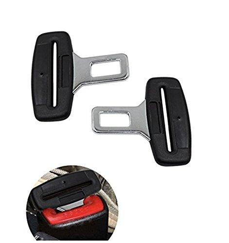 Pentaton Anti Gurtwarner | Gurtalarm Stopper | Sitzalarm | Dummy aus Metall | Kunststoff Griff | in Schwarz (2er Pack) -