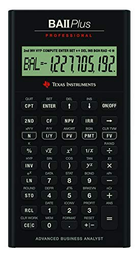 TEXAS INSTRUMENTS BA II Plus Professional Finanzrechner