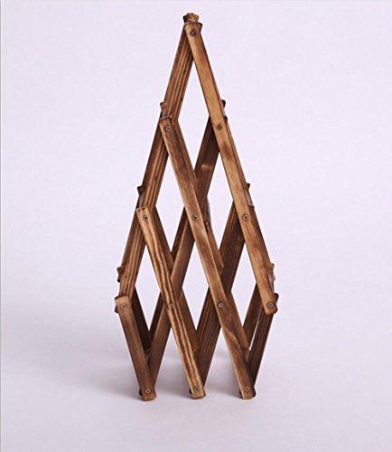 CHENGJIUWEILAI Holz Weinregal Kreative Falten Weinregal Antike Backdose 6 Flaschen Wein