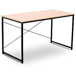 woltu tsb04hei schreibtisch computertisch b rom bel pc tisch b rotisch arbeitstisch aus holz und. Black Bedroom Furniture Sets. Home Design Ideas