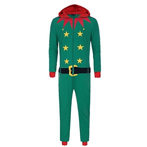 WanYang Erwachsene Weihnachten Elf Kostüm Weihnachtsfeier Kleidung Interessant Cosplay Kostüme Fasching (Kostüme Erwachsenen Elf Weihnachten)