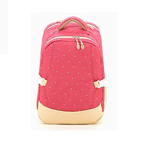 Multifunktionale Großraum-Mama-Tasche, Schultern aus dem Paket, Mutter-Paket, Mode Mutter Tasche, Mutter Baby-Tasche ( Farbe : Schwarz ) Rose red