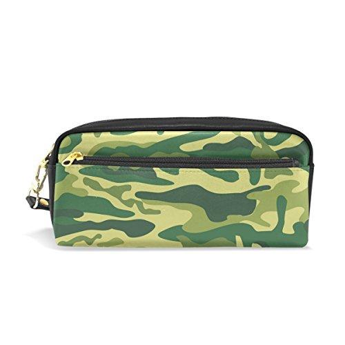 bennigiry Camouflage Grün Licht Bleistift Taschen Stift Case Tasche Geldbörse Box mit Reißverschluss für Schule Student, klein Reise Kosmetiktasche