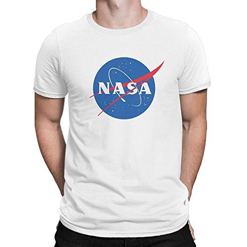Classic Space NASA Logo Herren T-Shirt XXL (Sleeve Long Tee Logo Classic)