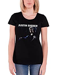 Justin Bieber Shirt Womens Purpose Mirror Sorry Official Black Skinny Fit