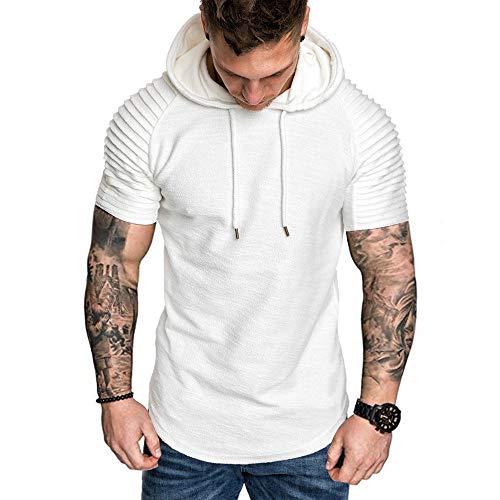 Riou Poloshirt Herren Slim Fit Polo T Shirts Männer Kurzarm Hemd Revers Solid Casual Basic Sport Design Ins Trend Mode T-Shirt (Lacoste-vintage)