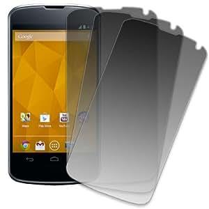 Mpero 3 Pack of Matte Anti-Glare Screen Protectors for LG Google Nexus 4 E960