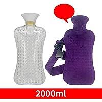Outtybrave Wärmflasche mit Fleece-Bezug, hitzebeständige PVC-Tasche, 2L Fassungsvermögen, Warmhaltebeutel für... preisvergleich bei billige-tabletten.eu