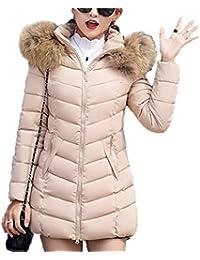 8d80a3aa4a9d Emin Damen Mantel Wintermantel Steppmantel Winterparka Übergangsjacke  Winter Warme Outwear Parka Jacke Winterjacke Lang Lose…