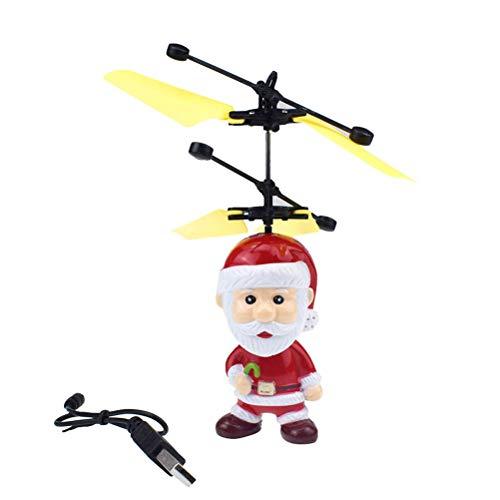 Santa Claus Helicopter Elektro Spielzeug, Elektrischer Infrarotsensor Spielzeug Selbstfliegender Hubschrauber Santa Spielzeug für Kinder Geschenk -