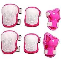 TUPWEL 1 Juego de Rodilleras de Seguridad para Adultos, Color Rosa + Blanco, para Deportes al Aire Libre, Patinaje, Ciclismo
