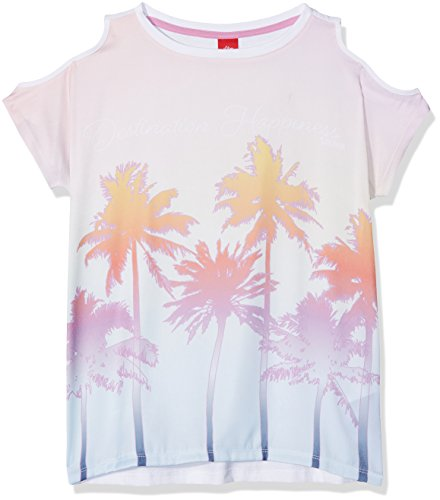 s.Oliver Mädchen T-Shirt 66.804.32.5074 Weiß (White 0100) 176 (Herstellergröße: XL/REG)