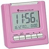 Wetterladen 98.1087.12 Bergamo - Despertador controlado por radio con termómetro, color rosa