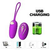 Générique USB Charge Silicone Oeuf Sautant,Sisit Télécommande sans Fil Contrôle Vibrant Culotte Vibrateur Sex-Toys pour Femmes Couples (Violet)
