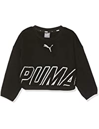 Puma Alpha Crew Sweat TR G Sudadera, Niñas, Cotton Black, ...