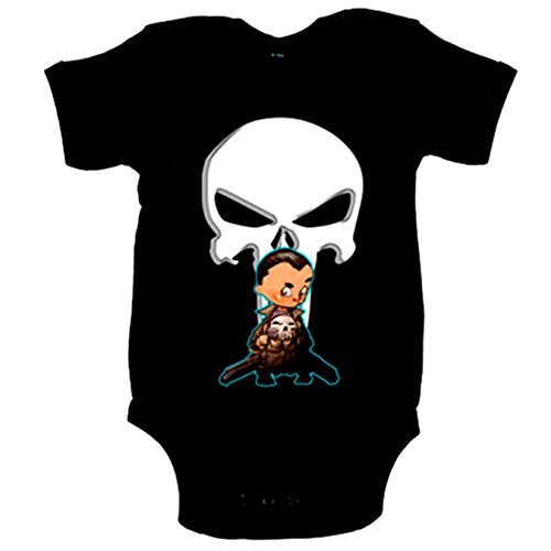 Body bebé The Punisher Baby El Castigador bebé Marvel - Negro, 12-18