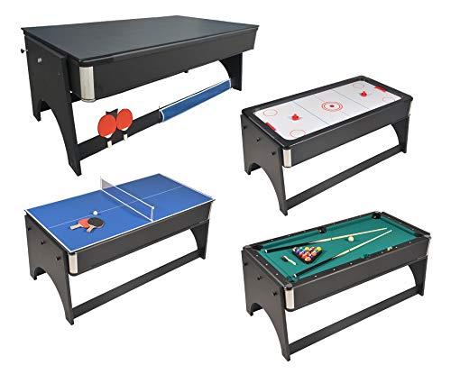 Mesa juegos 4en 1plegable Air Hockey-Ping